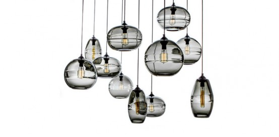 Modern And Stylish Clear Band Pendant Lamps Collection - DigsDi