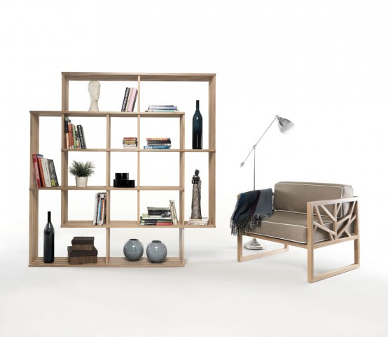 Modern And Versatile X2 Bookshelf From Solid Oak - DigsDi