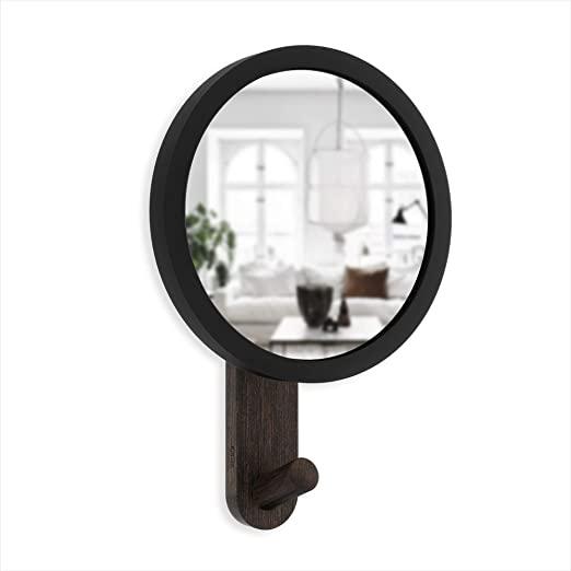 Amazon.com: Umbra Hub Hook with Mirror, Black/Walnut: Home & Kitch
