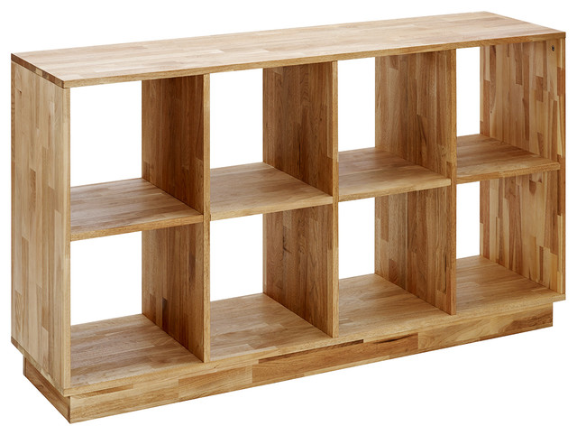 Mash Lax 4X2 Wood Bookcase - Modern - Bookcases - by Plush Pod Dec