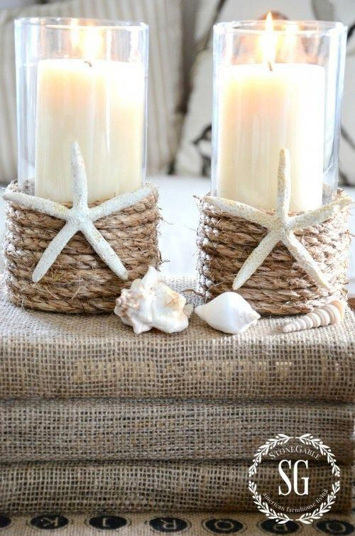 A modern chalet style decor | Diy candle holders, Pottery barn .