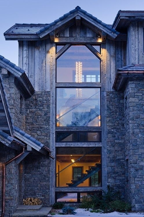 Stunning Weather-Withstanding Barns Inspired Chalet | Architecture .