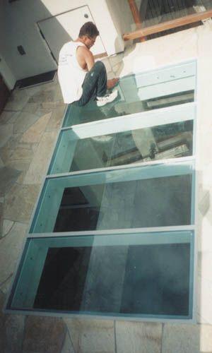 Sky-Tech Glazing Systems/Glass Floor Skylights | Basement lighting .