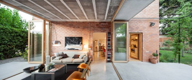 Modern Brick Home That Merges With The Garden - DigsDi