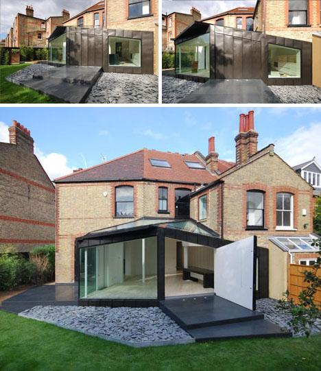 Black, White & Brick: Victorian Home + Modern Deck Design .