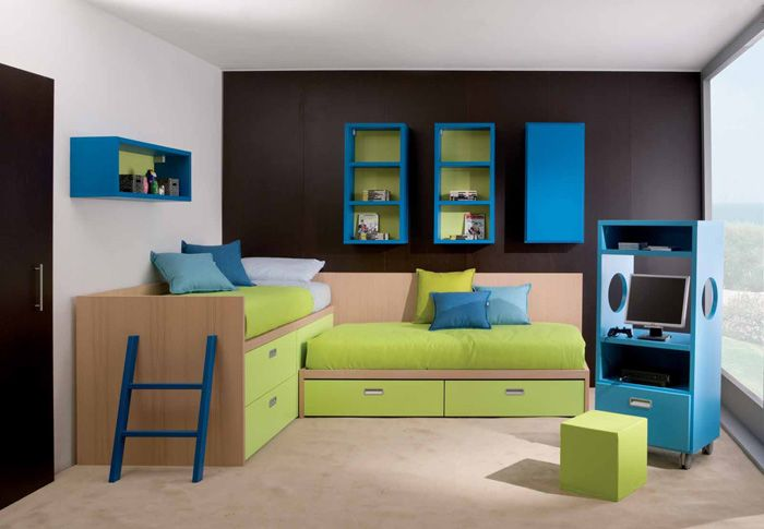 Modern and Cool Bedroom Design Ideas for Two Children: Awesome .