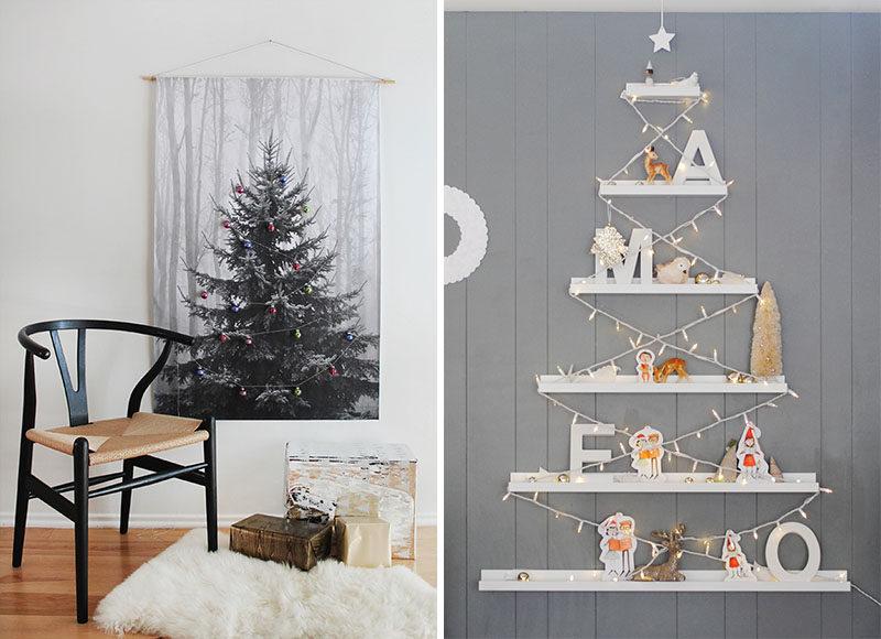 Christmas Decor Ideas - 14 DIY Alternative Modern Christmas Tre