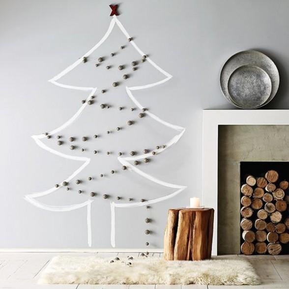 Modern Holiday Interiors - 10 Christmas Tree Alternativ
