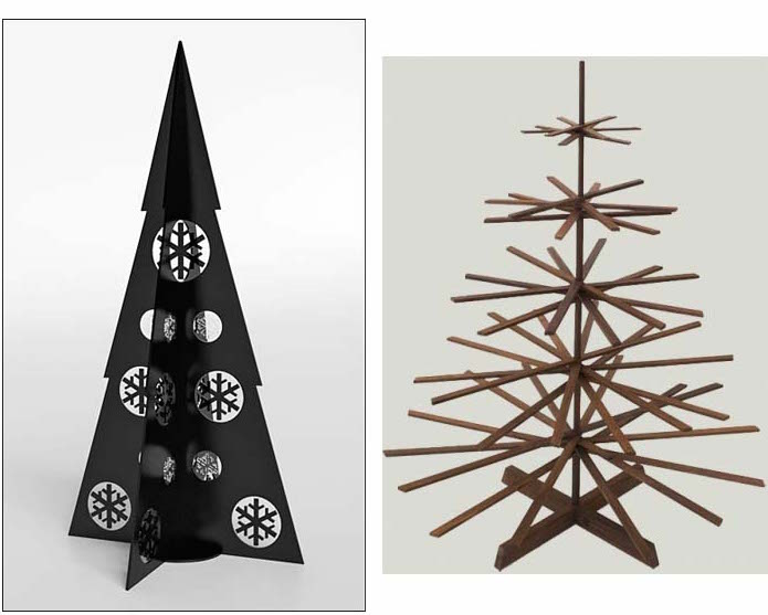 Holiday Sparkle: Holiday Tree Alternatives with Modern Design .