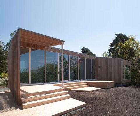 Summer Retreat: a modern coastal cabin - Coastal Homes, Modern Cabi