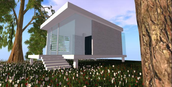 Second Life Marketplace - Designer Prims Modern Summer Beach Cabin .