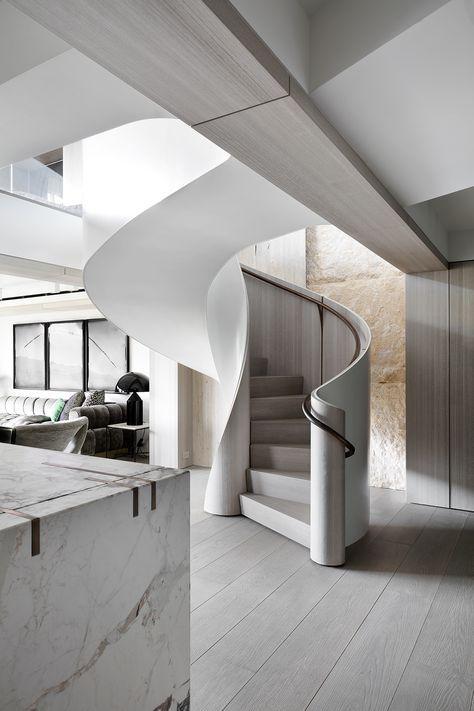 Central Park Duplex, New York   Interior stairs, Modern staircase .