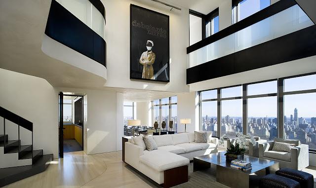 Modern Central Park West Penthouse Duplex in Manhattan, New York .