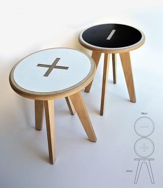 Plus / minus side tables | Furniture design inspiration, Cnc .
