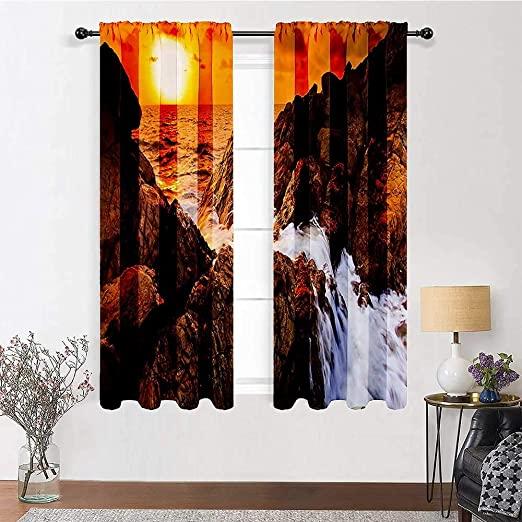 Amazon.com: Kitchen Curtains Seaside Decor Collection Temperature .