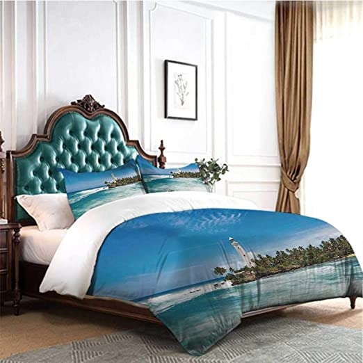 Amazon.com: Hello-one Sweaters Bedding Collection 4 Pcs Lighthouse .