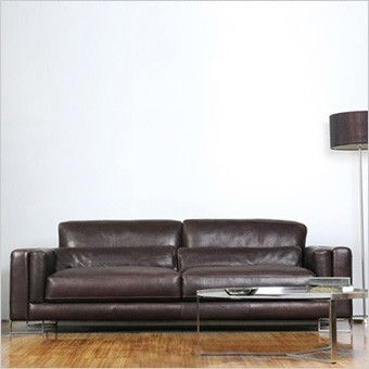 Leather sofa - scan design   Contemporary furniture stores .