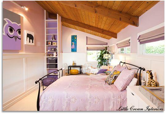 Modern Girl's Bedroom | Big girl bedrooms, Grey bedroom design .