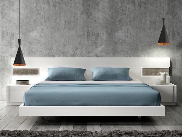 Trends to Try : Bedside Hanging Lights   Modern bedroom furniture .