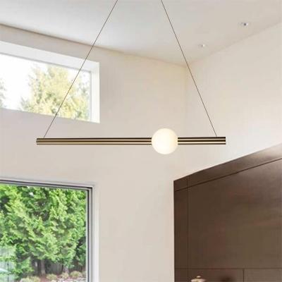 Slim Tube LED Hanging Lights Ultra Modern Aluminum and Glass 1-LED .
