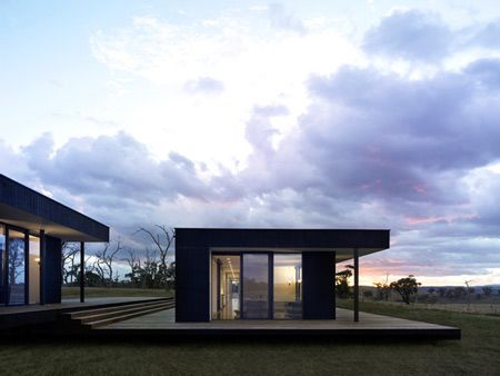 This modular home in Australia is made up of several structures .
