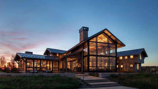 This rustic modern home in Minnesota boasts impressive design .