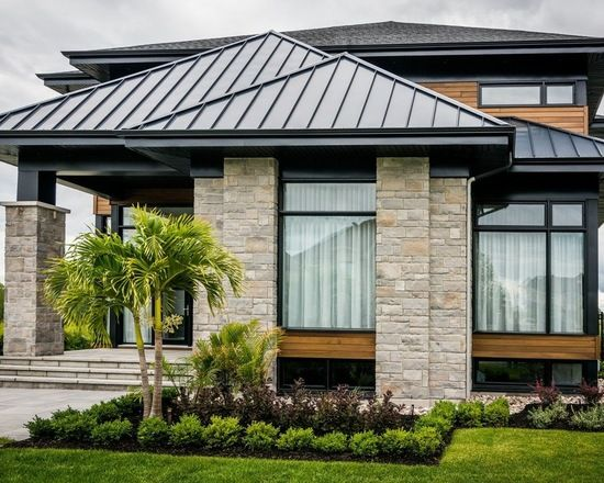 Modern house with black aluminium windows - Windows And Doors .