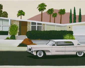 Mid Century Modern Limited Edition Print from Original Painting .