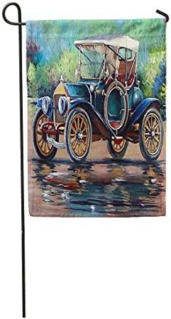 Amazon.com : Semtomn Garden Flag Vintage Old Auto Retro Car Oil .