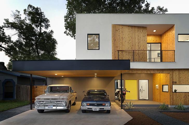 HD wallpaper: house, modern, car, classic car | Wallpaper Fla