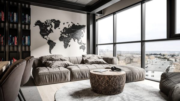 Grey Modern Industrial Apartment Interiors – Outdoor Christmas .