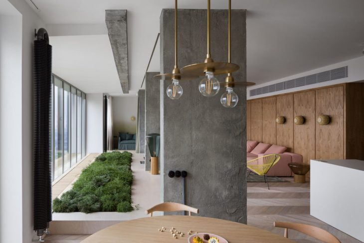 Modern Industrial Apartment by Olha Wood - Archiscene - Your Dai