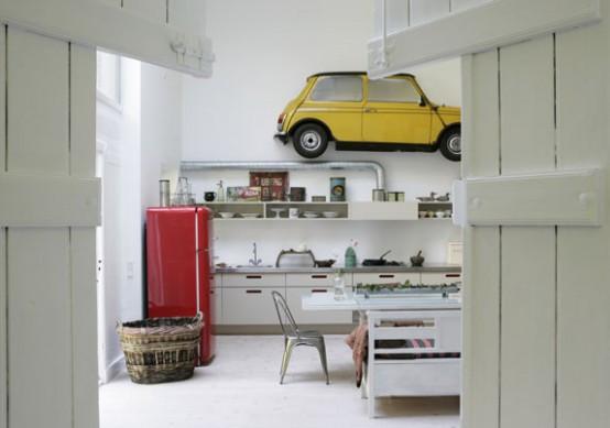 Modern Kitchen Design with Antique Decor Elements …by Katrine .