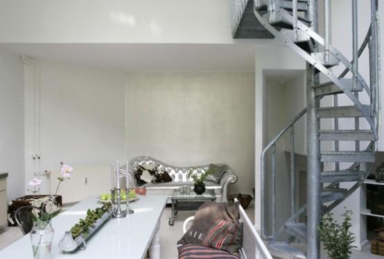 Modern Kitchen Design with Antique Decor Elements - DigsDi