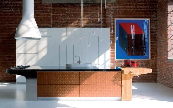 Modern Kitchen With Original Finish - Mesa by Schiffini - DigsDi