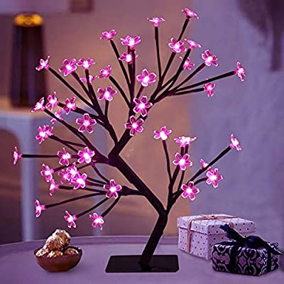 """Bright Zeal 18"""" LED Cherry Blossom Tree Light with Timer - Battery ."""