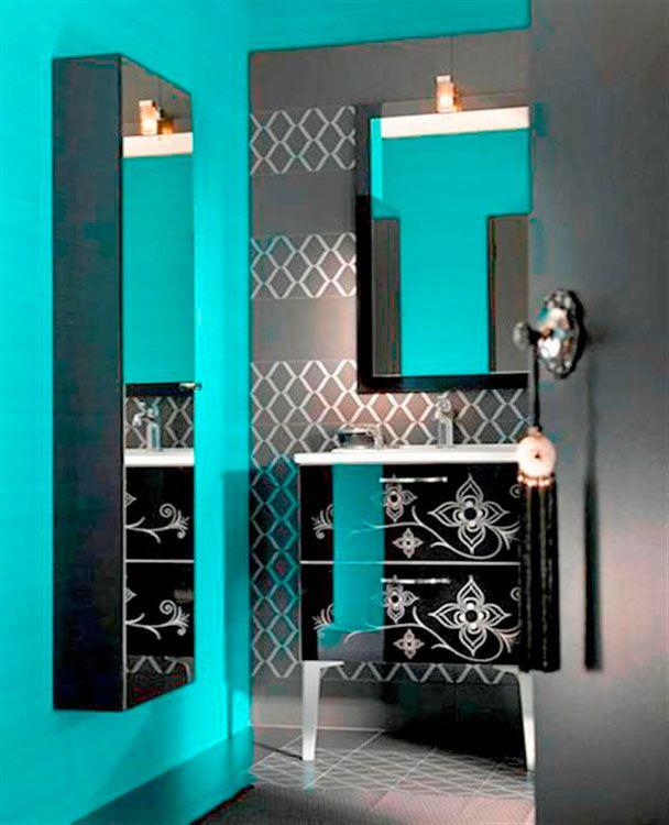 Modern Bathroom Design Ideas Morocco Delpha (b)   Turquoise .