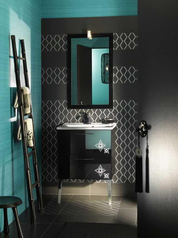 Stunning Black Blue Bathroom Interior Ideas by Delpha   Fun .