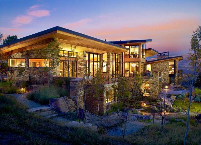 24 Stunning Modern Mountain Homes Ideas : Modern Luxury Mountain .