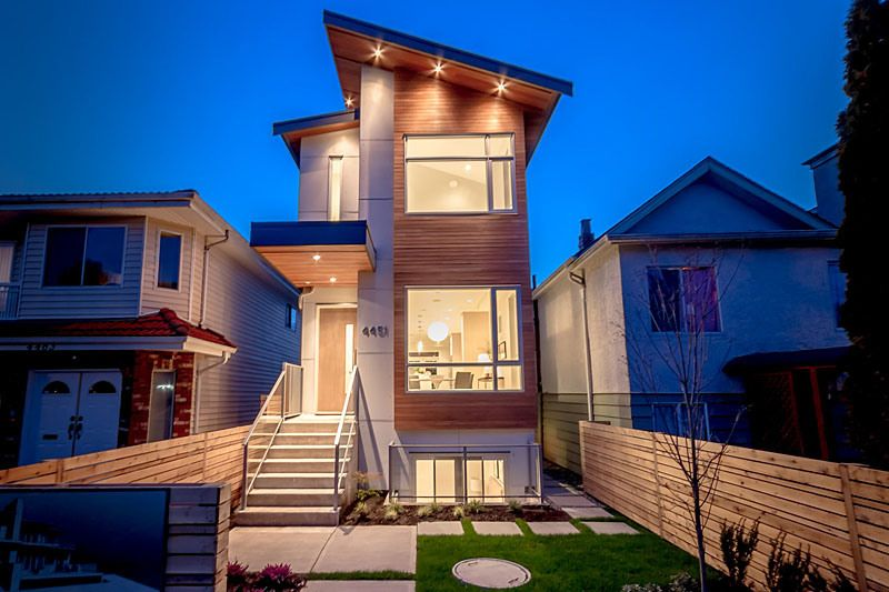 goodie : 4451 walden street | Narrow house designs, Row house .