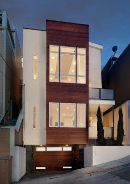 Affordable House Plans for Narrow Lots | Modern minimalist house .