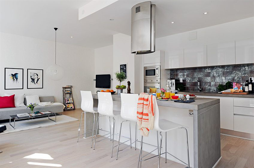 Open Plan Apartment Design In Gothenburg | iDesignArch | Interior .