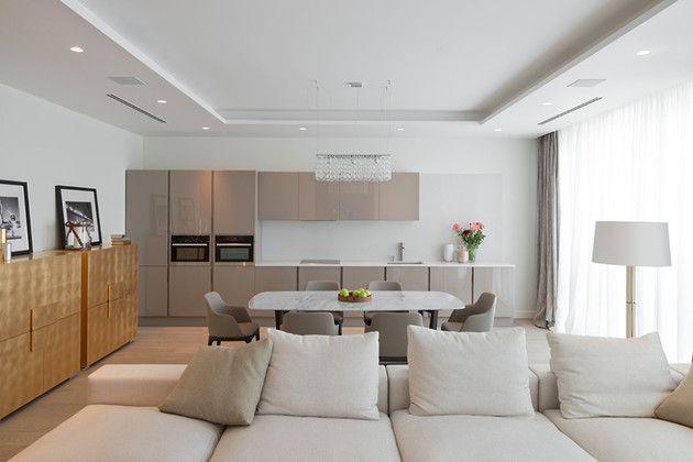 Lighting Details Create Drama in Modern Open Plan Apartment .