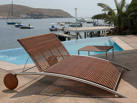 Modern Outdoor Furniture from Beltempo - wood and metal .