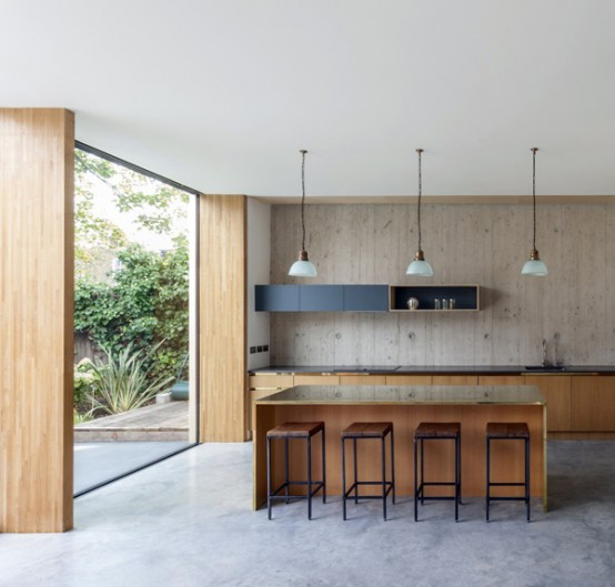 Modern Pear Tree House With Wood And Concrete In Decor - DigsDi