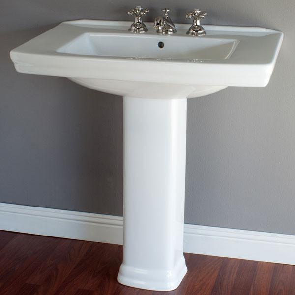 Strom Plumbing Pedestal Sink - P1120   Vintage T