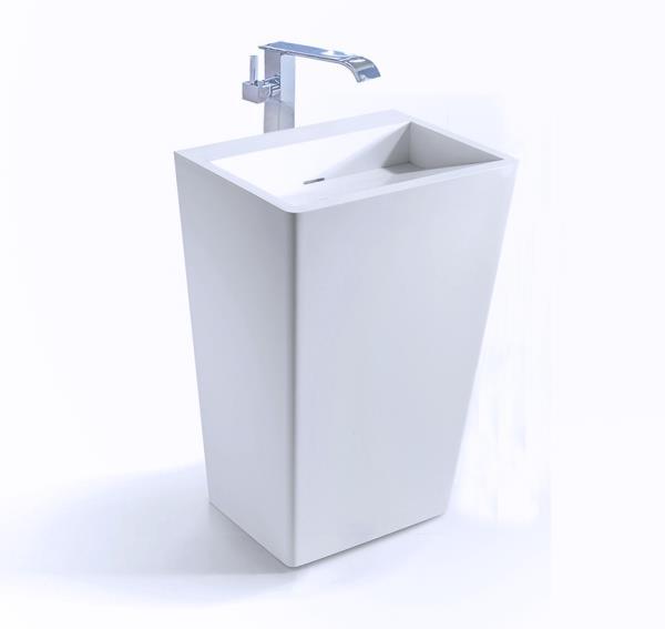 Bathroom Pedestal Sink - Single Pedestal Sink - Modern Sink .