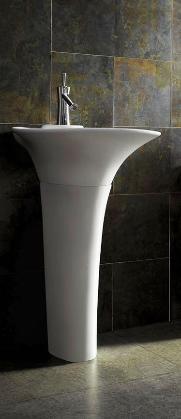 Modern Pedestal Sink Vanity - Treviso   Modern pedestal sink .