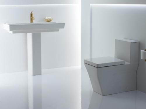 Reve Modern Pedestal Sink and Toil