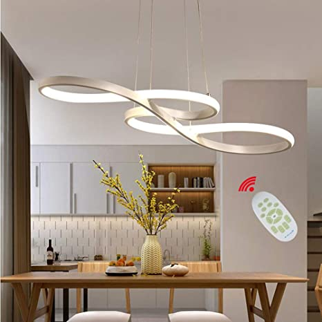 LED Modern Pendant Light with Remote Dimmable Pendant Lighting .